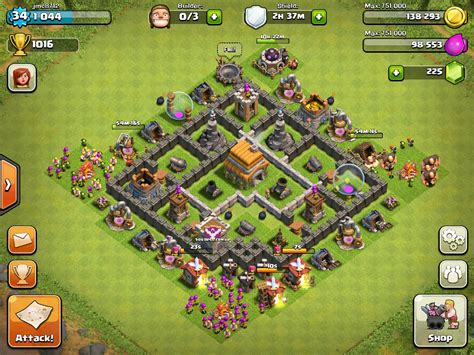 layout for th6 top 10 clash of clans town hall 6 trophy base layouts
