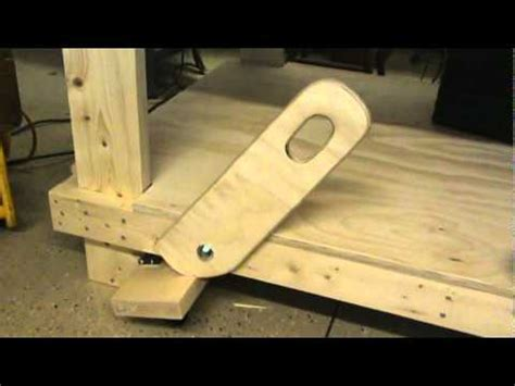 work bench with wheels retractable work table wheels youtube