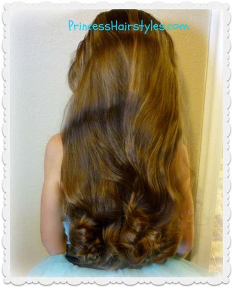 princess hairstyles noodle curls no heat curls tutorial using bun maker princess
