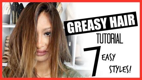 hairstyles to hide greasy hair youtube 7 greasy oily hair tutorial easy cute youtube