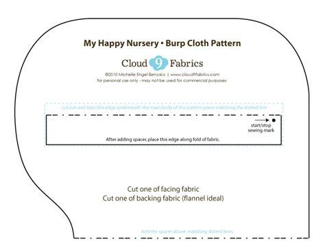 Tutorial Contoured Burp Cloths Cloud9 Fabrics Contoured Burp Cloth Template