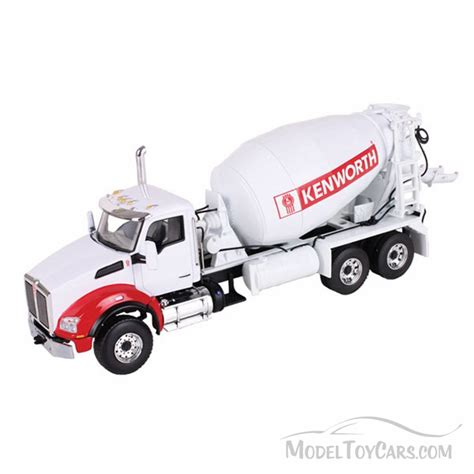 Diecast Truck kenworth t880 with mcneilus mixer white gear 1 50 scale diecast model car