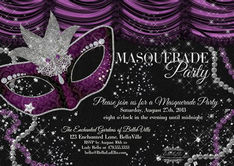 Masquerade Invitations Templates luella masquerade for and summer