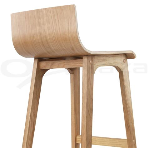 4 Wooden Bar Stools by 4x Oak Wood Bar Stools Wooden Barstool Dining Chairs