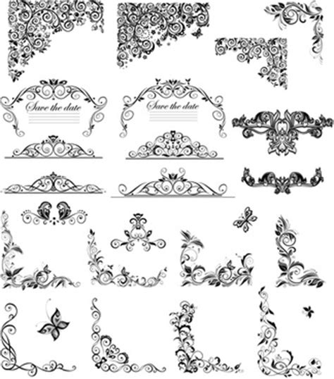 corner pattern vector cdr download free floral page borders free vector download
