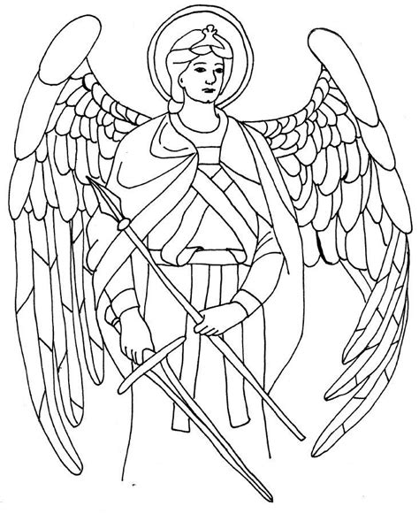 St Michael Coloring Page Coloring Home And Gabriel Coloring Page