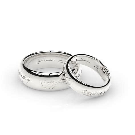 elvish ring set in white gold palladium and platinum