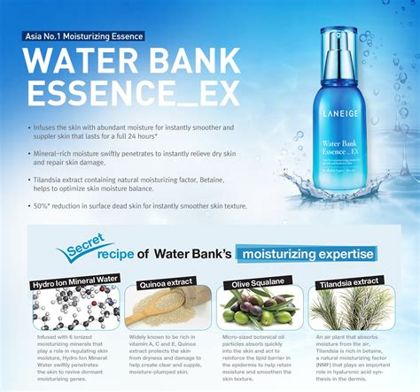 Water Bank Essence Ex Laneige laneige water bank essence ex 10ml 3 expired date 2018