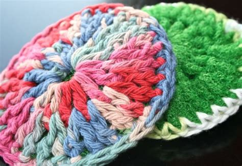 knitted scrubbies netting crocheted dish scrubber dishes yarns and crochet dish