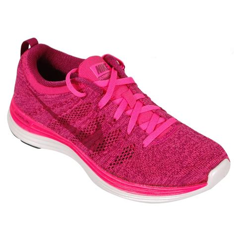 pink athletic shoes nike flyknit lunar 1 s running shoe pink