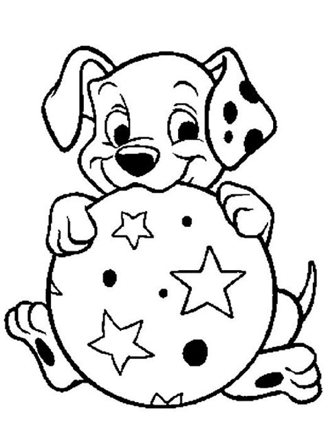dalmatian puppies coloring pages puppies coloring pages dalmatian playing ball coloringstar