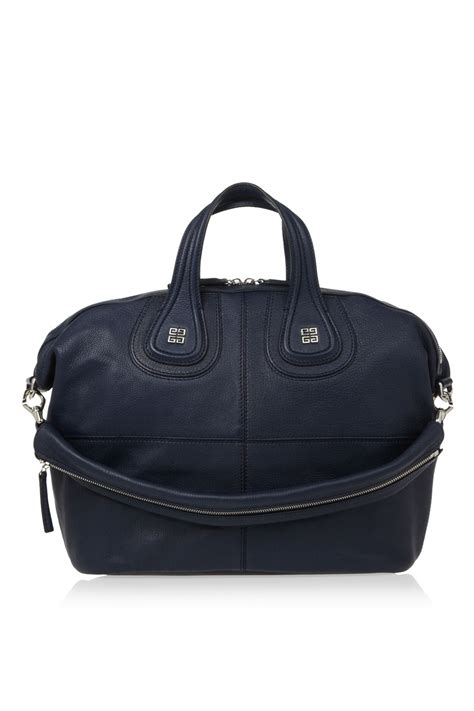 Givenchy Nightingale by Givenchy Medium Nightingale Bag In Midnightblue Leather In
