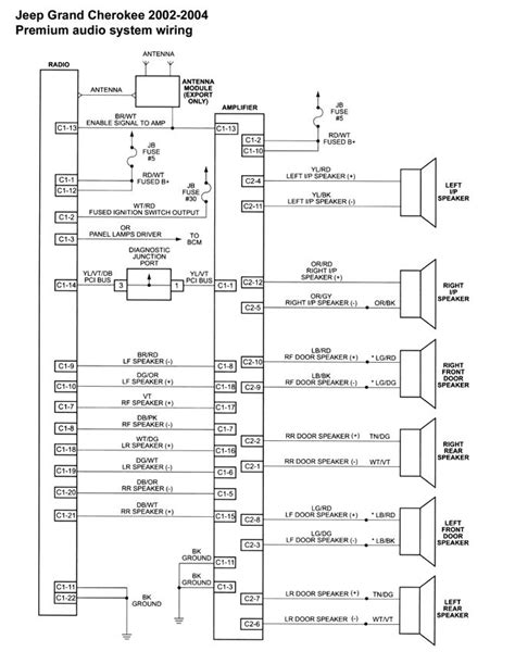 radio wiring diagram for 2000 jeep wrangler jeep