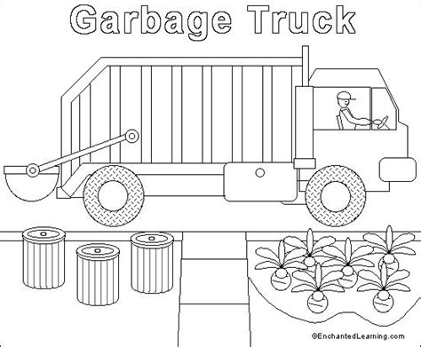 Coloring Page Garbage Truck by Garbage Truck Coloring Page