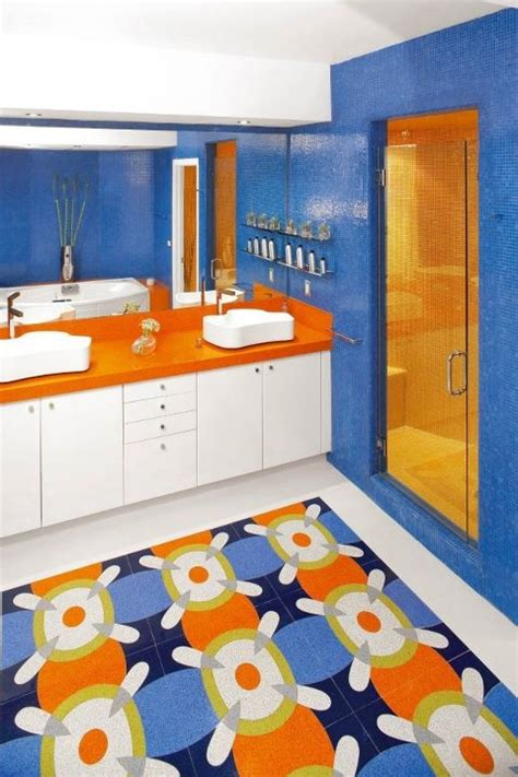 blue and orange bathroom orange cobalt blue bathroom next house pinterest