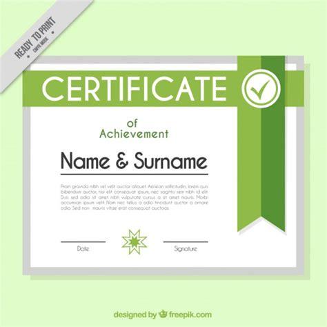 design a certificate template green certificate design vector free