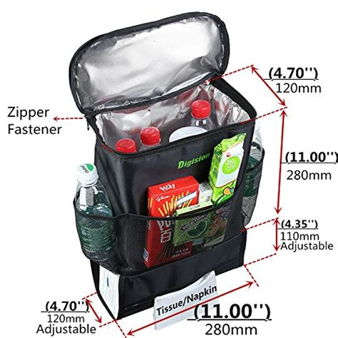 Auto Accessories Car Seat Back Multi Pocket Insulation Storage Bag Org digision 174 car back seat organizer auto seat multi pocket travel storage bag insulated car seat
