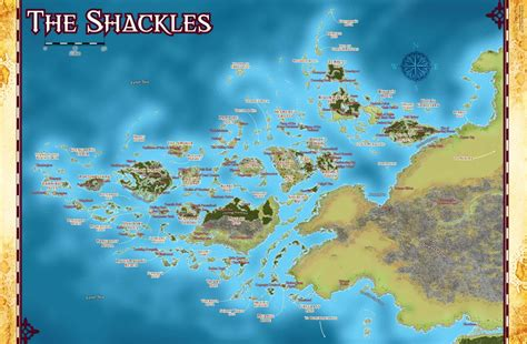 pathfinder golarion map skull shackles caign info golarion