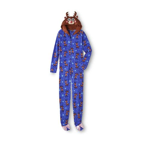 s footed sleeper pajamas reindeer cozy sleepwear