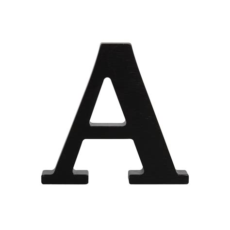 Wooden letter A, black A