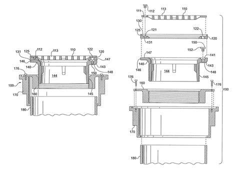 floor drain section patent us8347424 leveling mechanism for floor drain