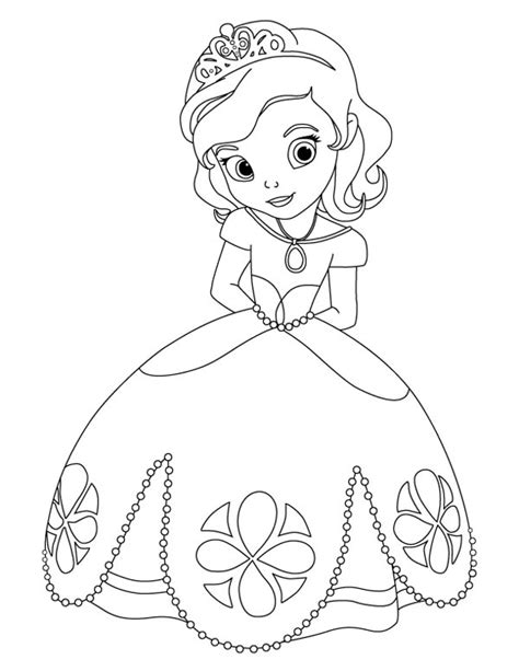 princess sophia free colouring pages