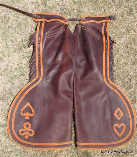 Handmade Chaps - custom handmade oliver saddle shop step in bell chaps