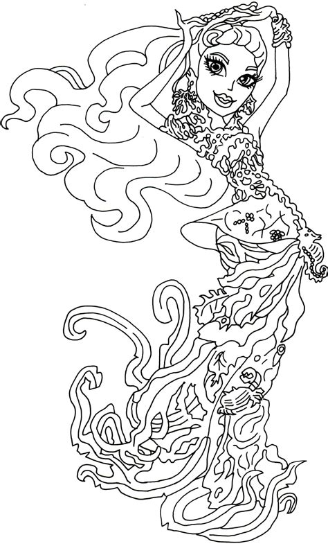monster high gooliope coloring pages free printable monster high coloring pages posea reef