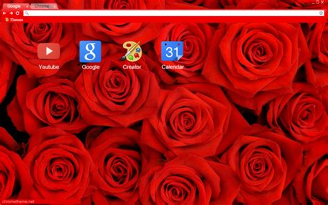 theme red rose download red rose chrome theme themebeta