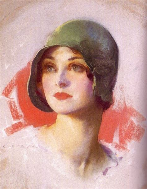 painting of in 1920 s cloche hat 1920s 30s