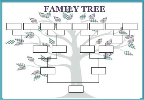 Free Printable Family Tree Outlines | family tree template 50 download free documents in pdf