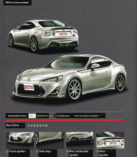 Toyota Gt86 Upgrades Trd Parts Catalogue Toyota Gt 86 Club Uk