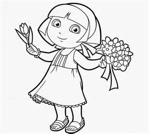 princess dora coloring drawing free wallpaper anggela