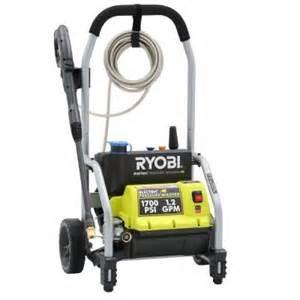 home depot electric pressure washer ryobi 1700 psi 1 2 gpm electric pressure washer ry14122