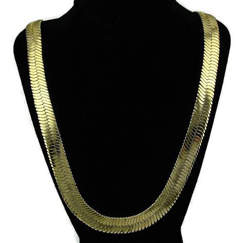 30 quot 14mm gold herringbone chains