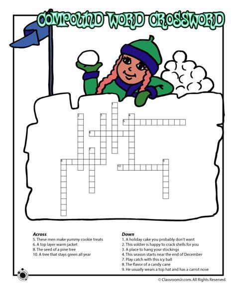 12 best winter puzzles images winter compound words crossword puzzle woo jr activities