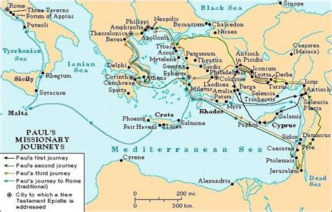 Pauls Journeys Outline by Evidence For The Historical Jesus