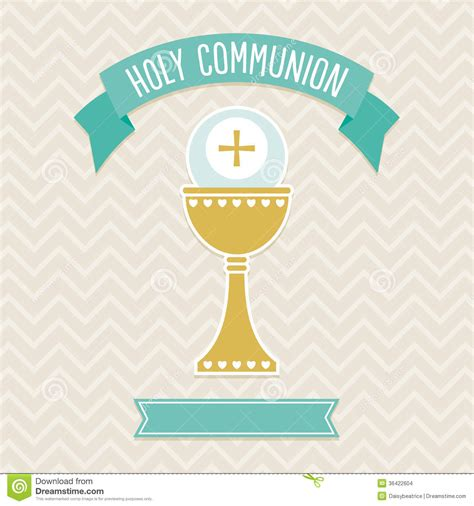 communion card templates free holy communion card template stock vector illustration