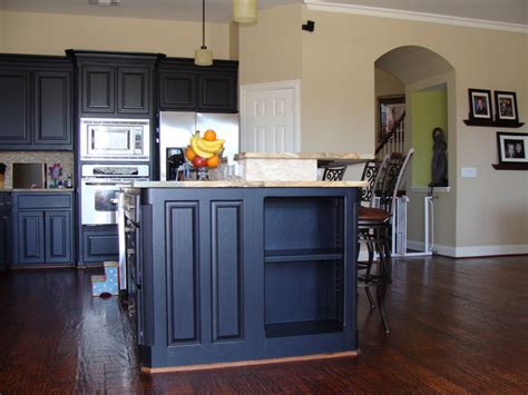 Navy Blue Rooms Living kitchen island with storage traditional kitchen