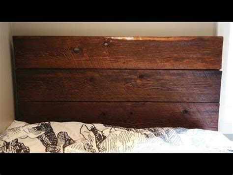 diy barn board headboard diy barn board headboard youtube