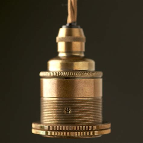 Track Light Pendants by Brass Pendant Lampholder Edison E27 Fitting