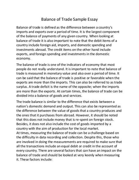Free Trade Debate Essay by Trade Essay
