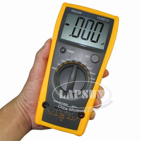 capacitor test with digital multimeter lcd capacitor capacitance meter tester digital multimeter 200pf to 20mf vc6013 ls hm925b
