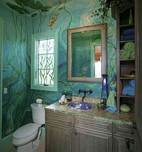 Bathroom Mural Ideas by Bathroom Painting Ideas