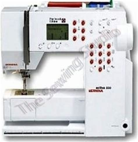 Bernina 230 Patchwork Edition - accessories and sewing on