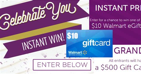 Take 5 Instant Win - coupons and freebies 10 walmart gift card instant win