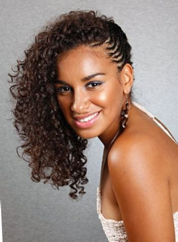 Black Hairstyles Braided To The Side | long curly natural hair braided to the side thirstyroots