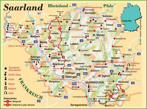 map of saarbrucken germany saarland tourist map