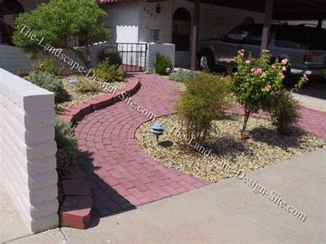 Paved Garden Ideas Small Paved Front Entry Landscape