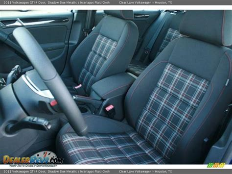 Gti Plaid Interior by Interlagos Plaid Cloth Interior 2011 Volkswagen Gti 4